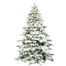 Real Flocked Christmas Trees On Sale Tree 9 White Artificial With Lit And