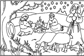 Bible Story Coloring Pages Goatherd