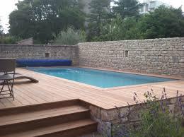 piscine semi enterrée bois et piscine