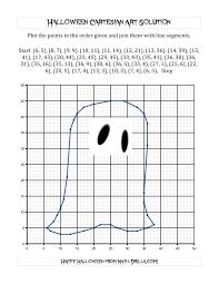 Halloween Multiplication Worksheets Coloring by Cartesian Art Halloween Ghost