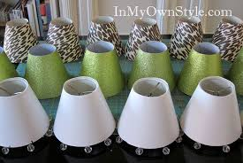 How To Make Chandelier Shade Covers With Scrapbook Paper