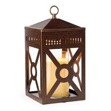 La Tee Da Lamps by Rustic Brown Mission Candle Warmer Lantern