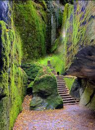 steps leading to la verna tuscany italy franciscan