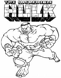 The Incredible Hulk Coloring Pages 11