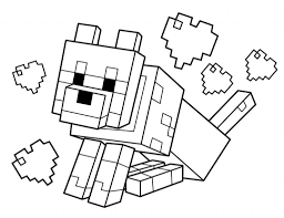 Cute Minecraft Color New Coloring Pages Stampy