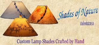 Custom Rustic Wildlife And Drum Lamp Shades