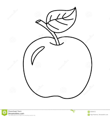 Royalty Free Vector Download Coloring Page Outline Of Cartoon Apple