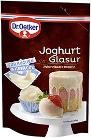 dr oetker joghurt glasur für eine joghurt note auf kuchen torten desserts eis oder früchten 1er pack 1 x 150g