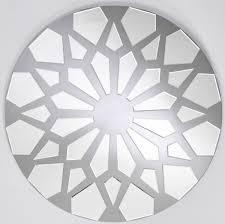 casa padrino designer wandspiegel grau ø 100 cm moderner design spiegel garderoben spiegel wohnzimmer spiegel luxus kollektion
