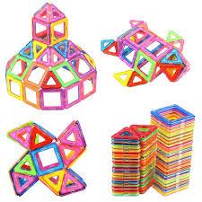 Picasso Magnetic Tiles 100 by Nextx Magnetic Building Blocks Toys Bricks Tiles Stack Set 64pcs