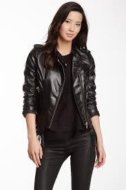 steve madden asymmetrical zip fringe faux leather moto jacket