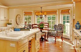 french dining chairs Kitchen Traditional with antiqued bay window