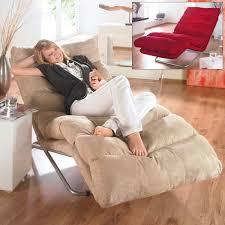 relaxliege easy dicke polsterung metallgestell polyester