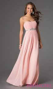 long strapless prom dress with pleated bodice prom strapless
