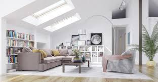 dachzimmer wohnidee dachgeschoß mit modernen wohnzimmer