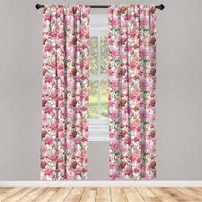 gardine fensterbehandlungen 2 panel set für wohnzimmer schlafzimmer dekor abakuhaus shabby chic garden roses kaufen otto