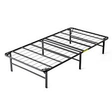 Platform Metal Bed Frame by Intellibase Lightweight Easy Set Up Bi Fold Platform Metal Bed