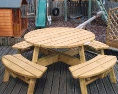 round table benches round picnic bench with back rest