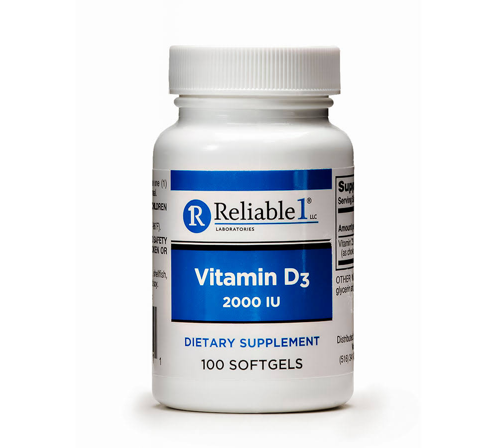 Reliable-1 Vitamin D3 2000 IU Dietary Supplement - 100ct