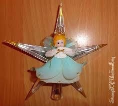 Retro Christmas Tree Toppers Credainatcon Com Vintage Angel Decorations