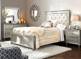 Raymour And Flanigan Bed Headboards by Tiffany 4 Pc Queen Bedroom Set Cream Silver Raymour U0026 Flanigan