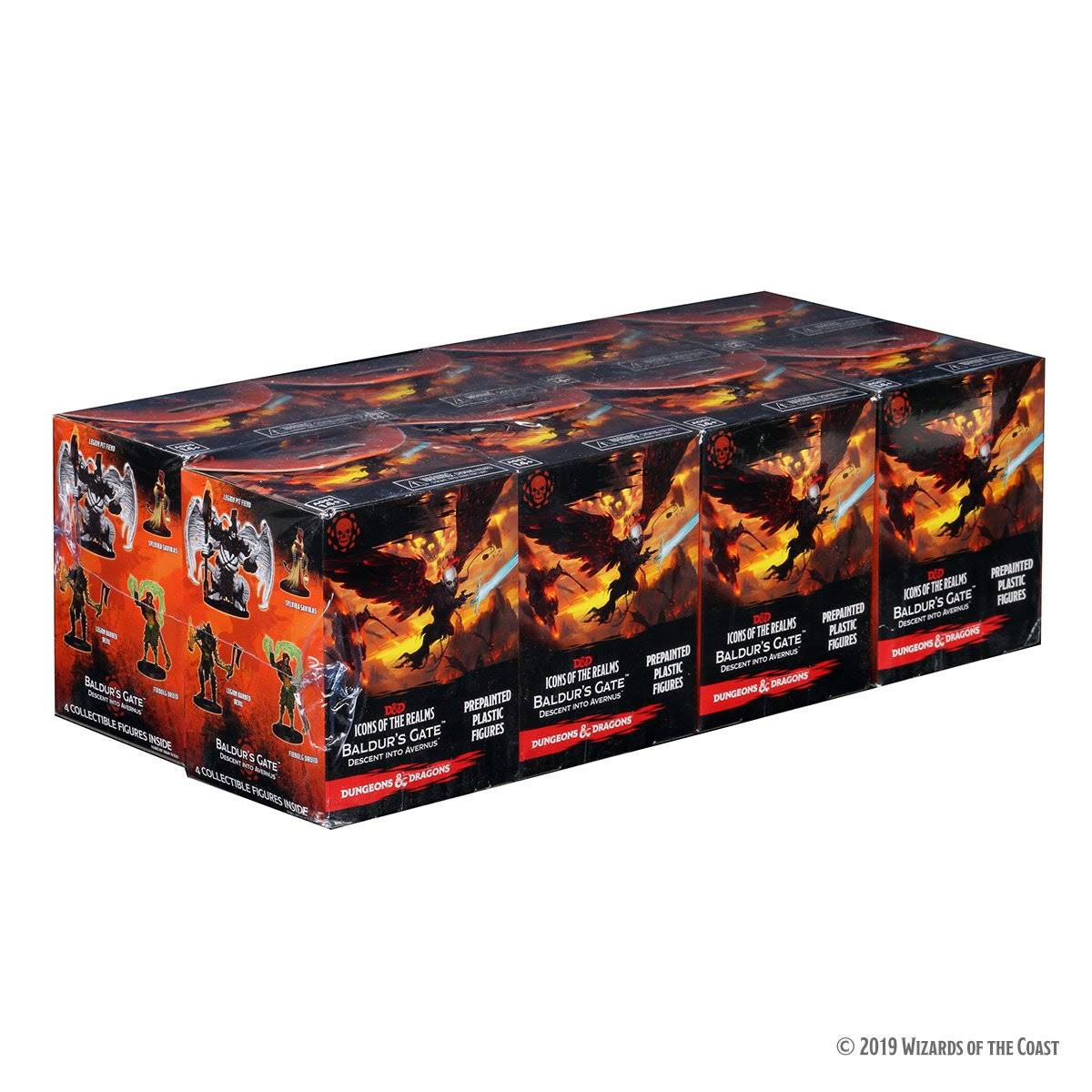 Dungeons & Dragons Miniatures: Icons of The Realms - Baldur's Gate Descent Into Avernus Booster (8ct) Brick