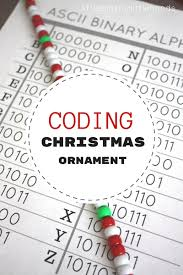 Ascii Art Christmas Tree Small by Christmas Coding Activity Steam Ornament For Kids