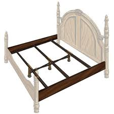 queen size wood bed rails hook on