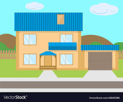 100 Picture Of Two Story House Cartoon Twostory House Garage Green Lawn
