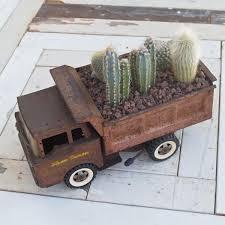 Planted Vintage Dump Truck
