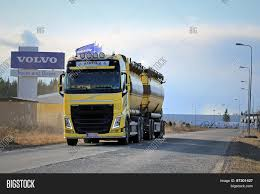 100 Volvo Truck Center Yellow FH Tank Image Photo Free Trial Bigstock