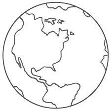 Globe Coloring Pages 2