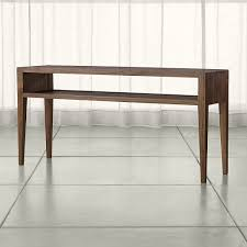 Crate And Barrel Leaning Desk White by Marin Shiitake Solid Wood Console Table Crate And Barrel Or