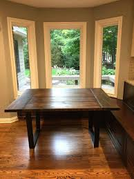 Custom Dining Room Tables Indianapolis Farmhouse Table With Metal Legs Modern Chairs