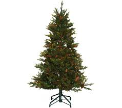 5ft Pre Lit White Christmas Tree by Christmas Trees U2014 Qvc Com