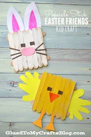 Popsicle Stick Easter Friends