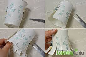 Make The Main Part For Paper Cup Octopus Craft
