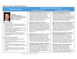 Executive Resume Summary K Samples