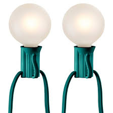 25ct frosted globe string lights green string room essentials