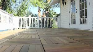 how to install deck tiles on a balcony or terrace