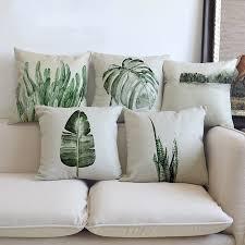 taie coussin canapé plantes tropicales feuilles de palmier cactus coussin taie d