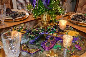 Mardi Gras Wooden Door Decorations by Southern Charm Mardi Gras Tablescape