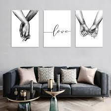 leinwandbild schwarz weiss liebe händchenhalten bilder bild