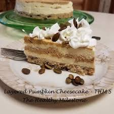 Pumpkin Layer Cheesecake by Layered Pumpkin Cheesecake The Healthy Milestone