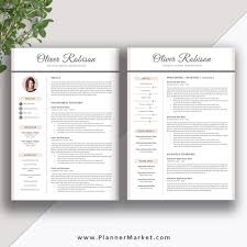 Professional Resume Template CV 3 Page Creative