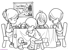 Coloring Sheets Prayer