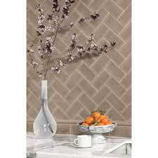shop allen roth 9 pack chocolate ceramic wall tile common 4 in