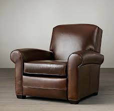 James Leather Recliner Pottery Barn Inside Club Chair Prepare 16