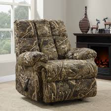 living room living realtree camouflage rocker recliner with