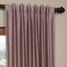 EFF Smoky Plum Vintage Faux Dupioni Silk Curtain Panel Free